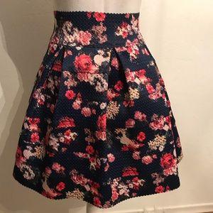 Dress it up or down, Xhilaration blue floral skirt